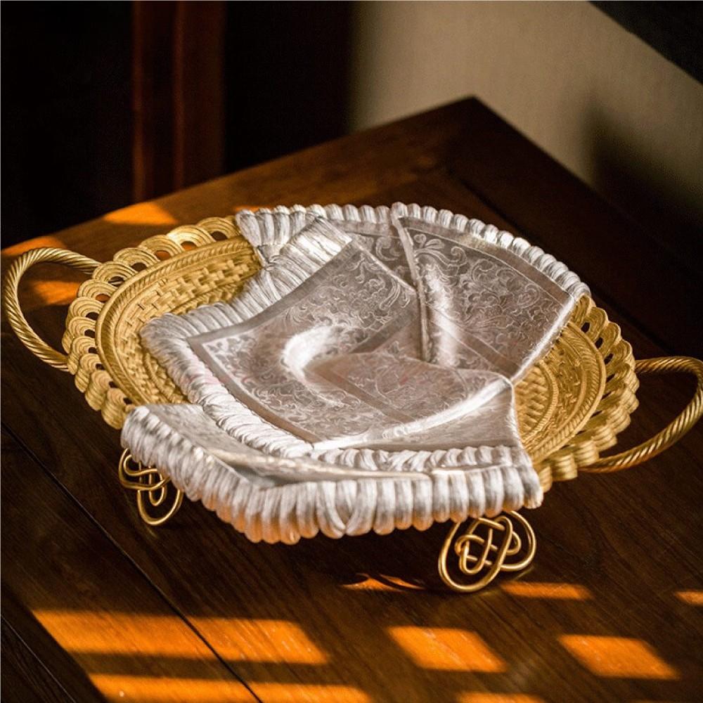 白孔雀·《和美》丝巾果盘